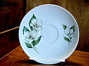 Homer Laughlin White Flower Saucer