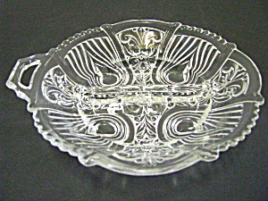 Vintage Indiana Glass Killarney Double Relish Dish