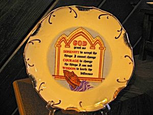 Serenity Prayer Decorator Plate