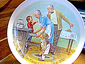 The Cookie Tasting Grandparents Collector Plate