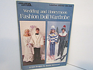 Leisure Arts Wedding Fashion Doll Wardrobe #2033