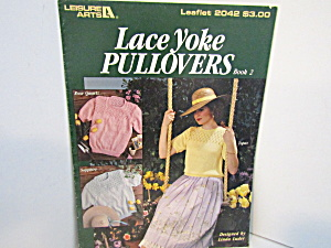 Leisure Arts Lace Yoke Pulolvers Book 2 #2042