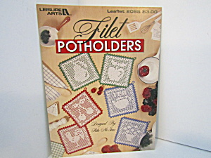 Leisure Arts Filet Pot Holders To Crochet #2088