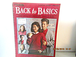 Leisure Arts Back To Basic Sizes 32-40 #2287