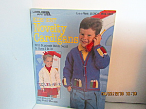 Leisure Arts Kids Knit Novelty Cardigans #2301