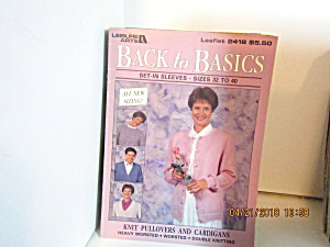 Leisure Arts Back To Basic Set-in-sleeves 34-40 #2418