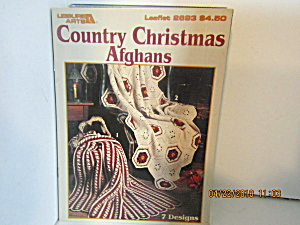 Leisure Arts Country Christmas Afghan To Crochet #2693