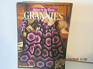 Leisure Arts Afghan By The Dozens Grannies #2696