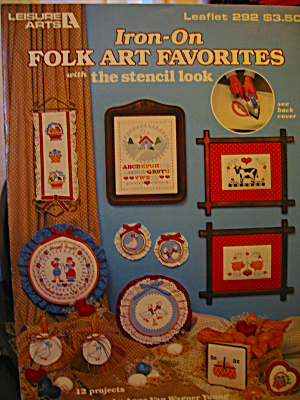 Leisure Arts Iron-on Folk Art Favorites #292
