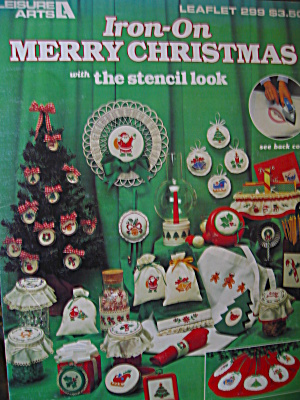 Leisure Arts Iron-on Merry Christmas #299