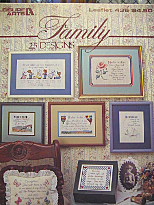 Leisure Arts Family Cross Stitch Book#436