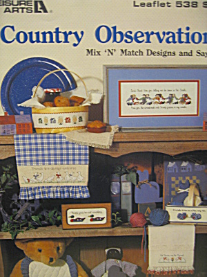 Leisure Arts Cross Stitch Country Observations #538