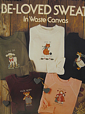 Leisure Arts Be-loved Sweats In Waste Canvas #567
