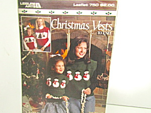 Leisure Arts Christmas Vests To Knit #750