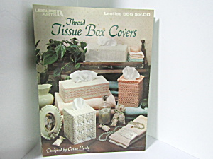 Leisure Arts Thread Tissue Box Cover #966