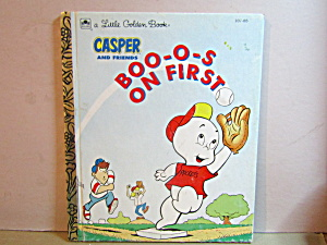 Golden Book Casper And Friends Boo-o-s On First