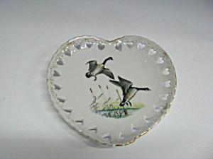 Heart Shaped Geese Flying Landing Plate