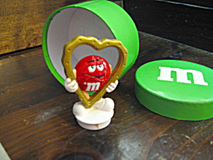 Red Plastic M&m Gold Heart Topper