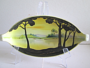 Nippon Handpainted Handled Candy/serving Dish