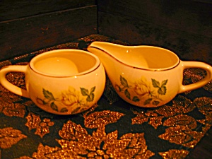 Golden Scepter Creamer & Sugar Bowl Set
