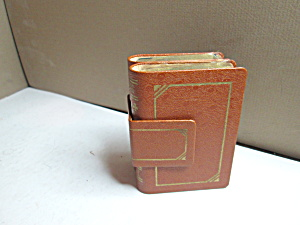 Vintage Leather Playing Cards Book Tan Case