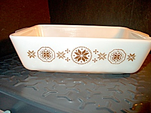 Vintage Corning Pyrex Town And Country Loaf Pan