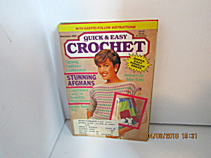 Vintage Craft Booklet Quick & Easy Crochet May/jun 1992