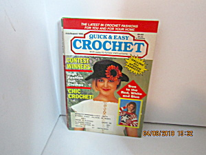 Vintage Craft Booklet Quick & Easy Crochetjuly/aug 1992