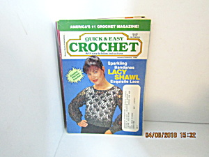 Vintage Craft Booklet Quick & Easy Crochet Jan/feb1996
