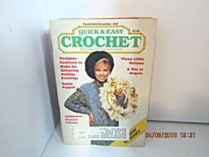 Vintage Craft Booklet Quick & Easy Crochet Nov/dec 1987