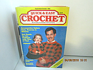 Vintage Craft Booklet Quick & Easy Crochet Sept/oct1988
