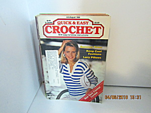 Vintage Craft Booklet Quick & Easy Crochet July/aug1989
