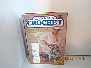 Vintage Craft Booklet Quick & Easy Crochet July/aug1990