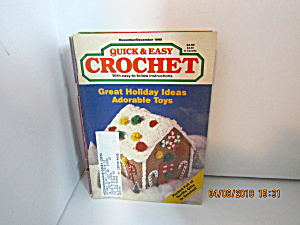 Vintage Craft Booklet Quick & Easy Crochet Nov/dec 1990