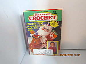 Vintage Craft Booklet Quick & Easy Crochet Nov/dec 1991