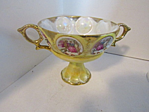 Royal Sealy Lusterware Colonial Pedestal Chalice Cup