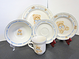 Tienshan Theodore Bear 20 Piece Dinnerware Set