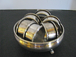 Vintage Coronet Silver Plate Dish & Napkin Rings