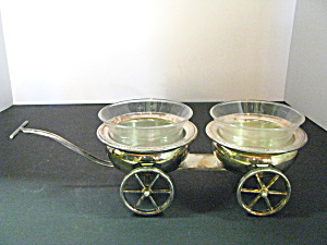 Vintage Fb Rogers Silver Plate Wagon Server Set