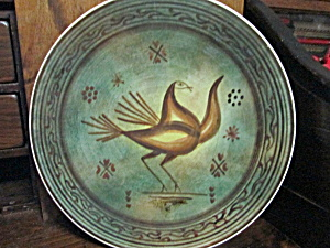 Art-deco Bird Decorative Hand Painted Plate