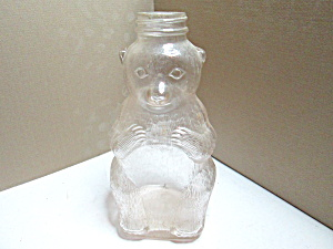 Vintage Snow Crest Syrup Glass Bear Bottle No Cap