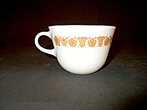Vintage Pyrex Coffee Cup Golden Butterfly