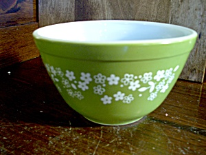 Pyrex Small Spring Blossom Green Mixing Bowl