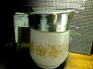 Vintage Gemco Large Creamer Butterfly Gold