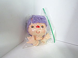 Western Craft Purple Yarn Hair Doll Head & Hands Set