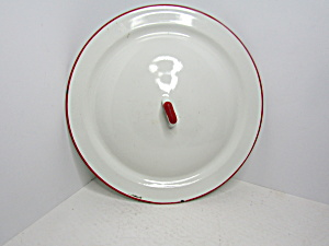 Vintage Enamelware White/red Cover