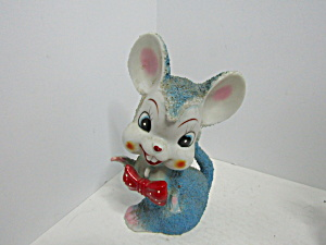 Vintage Ceramic Textured Big Tooth Mouse Figurine