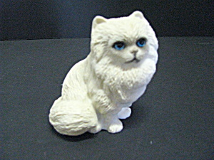 Vintage Heavy White Persian Cat Figurine