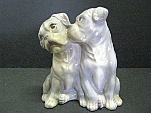 Porcelain Rubel Porcelain Figurine Gray & White Boxesr