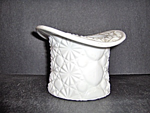 Fenton Milk Glass Hat Daisy And Button Pattern